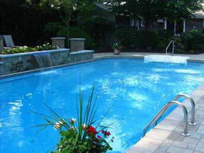 Completed pool oasis.