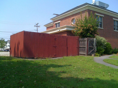 Existing dumpster area.