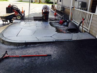 Let the patio commence with Maine granite.